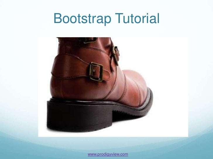 Bootstrap Tutorial     www.prodigyview.com