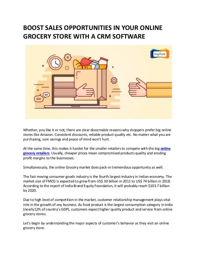 Boost Sales Opportunities in Your Online Grocery Store with a CRM Sof…