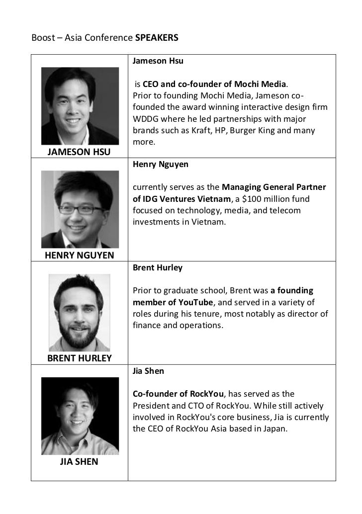 Boost – Asia Conference SPEAKERS                      Jameson Hsu                       is CEO and co-founder of Mochi Med...