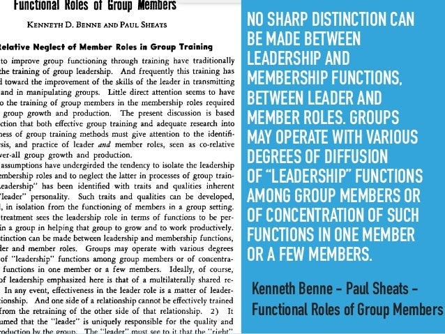 benne and sheats group roles pdf