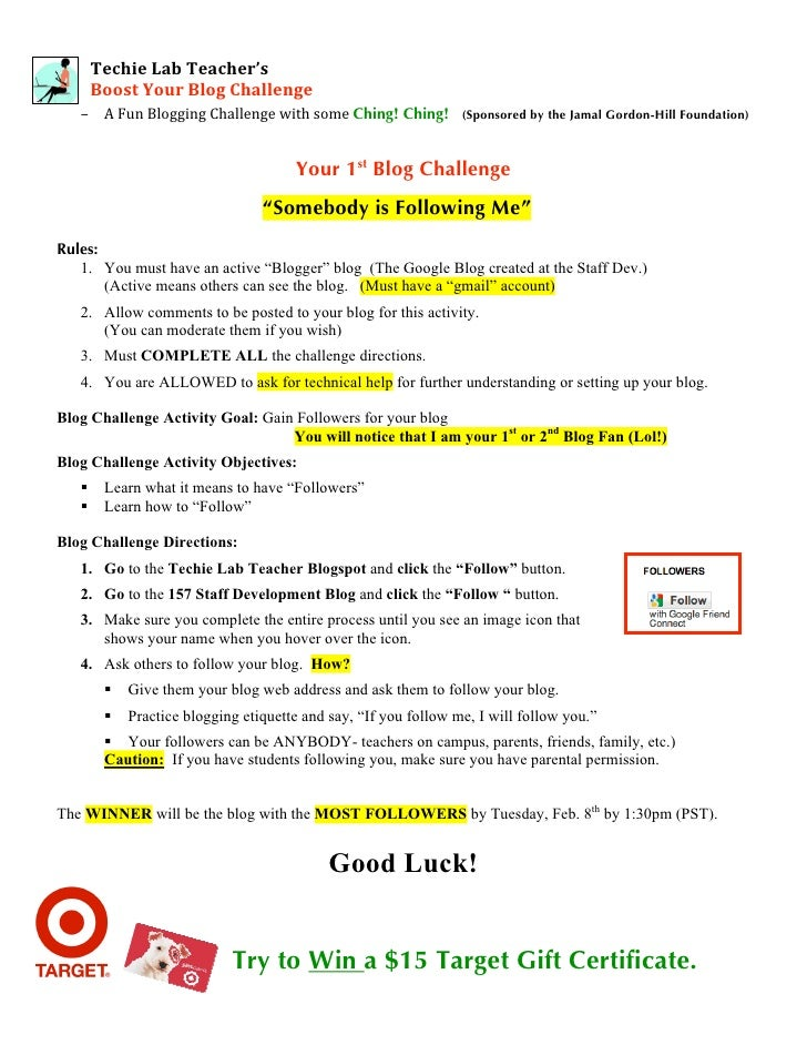TechieLabTeacher's       BoostYourBlogChallenge          – AFunBloggingChallengewithsomeChing! Ching! (...