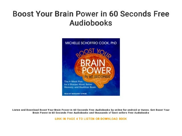 Better Memory Boost Your Brain Power in 60 Seconds and Healthier Brain The 4-Week Plan for a Sharper Mind