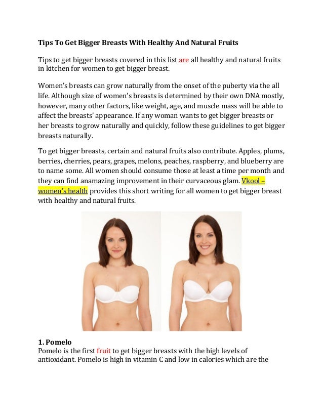 Tips for bigger breast naturally