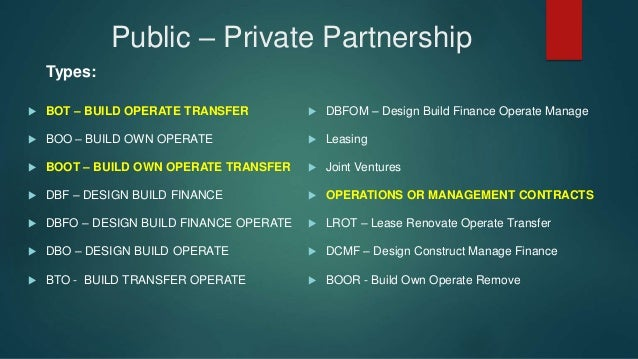 Build-Operate-Transfer Contract Definition