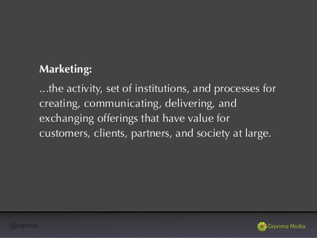 @exprimaMarketing:Enrolling people to take an active roll in your story.