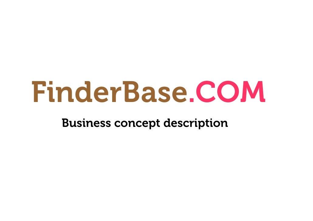 FinderBase.COM  Business concept description