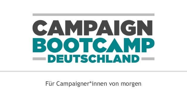 Für Campaigner*innen von morgen