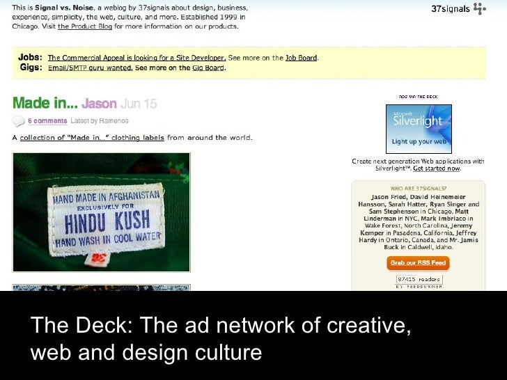 The Deck: The ad network of creative, web and design culture