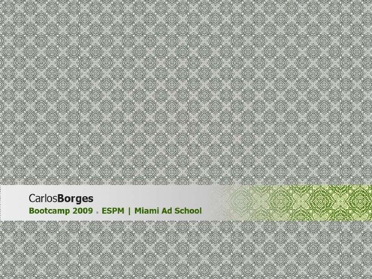 ESPM Miami AdSchool | Bootcamp planejamento