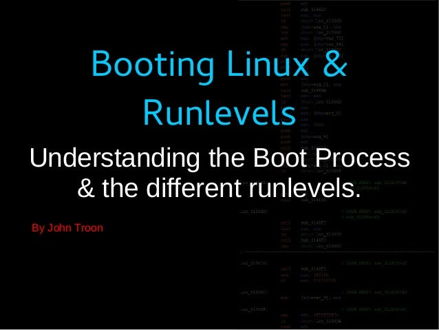 Linux : Booting and runlevels