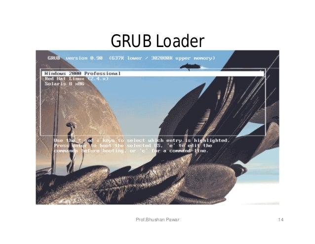 14 GRUB Loader Prof.Bhushan Pawar