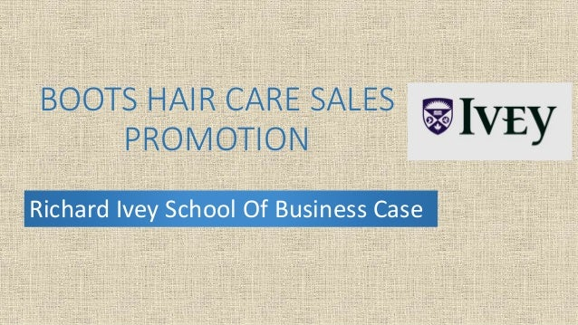 BOOTS HAIR CARE SALES PROMOTION Richard Ivey School Of Business Case