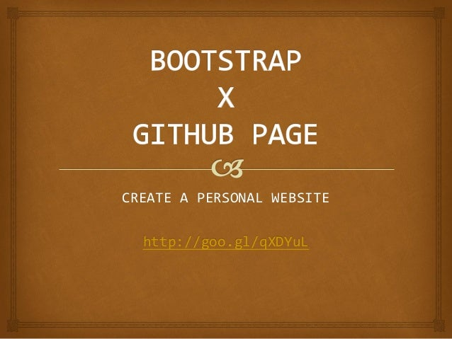 CREATE A PERSONAL WEBSITE  http://goo.gl/qXDYuL