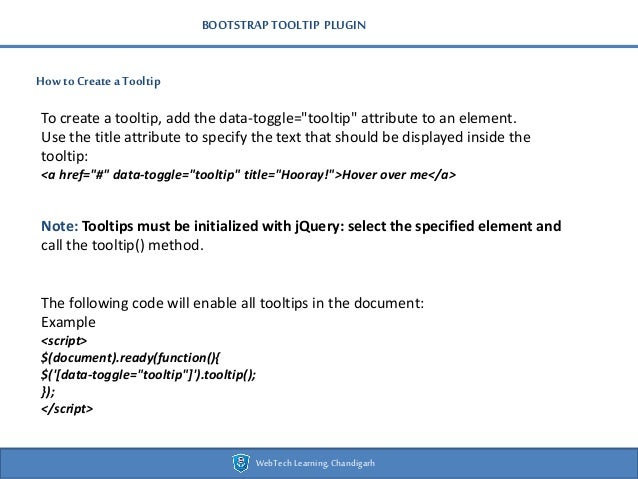Bootstrap webtech presentation - new