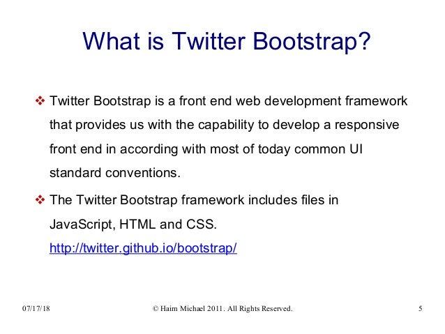 Bootstrap Crash Course 20180717