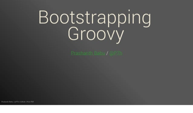 Bootstrapping Groovy