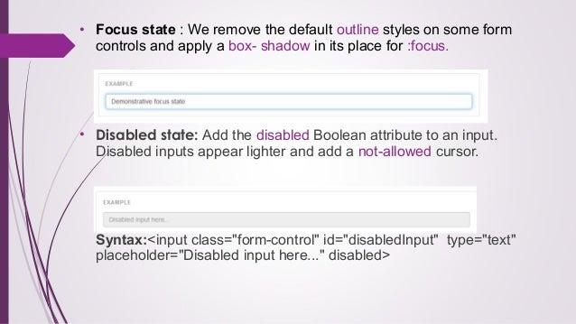 Bootstrap Remove Input Focus Border
