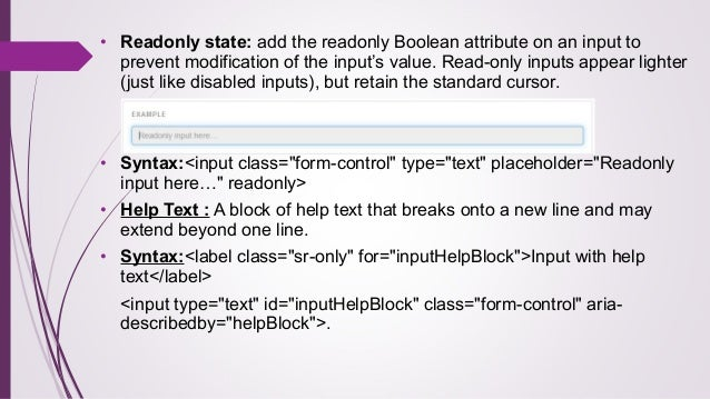 bootstrap disabled input