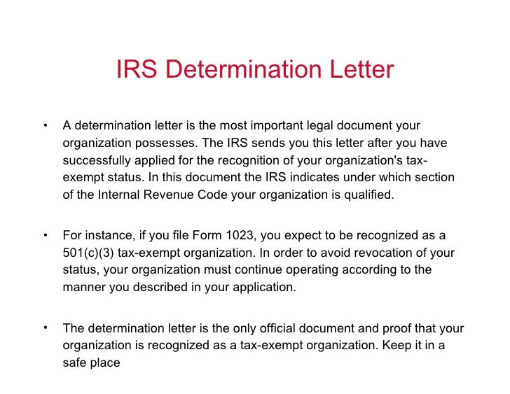 irs determination letter