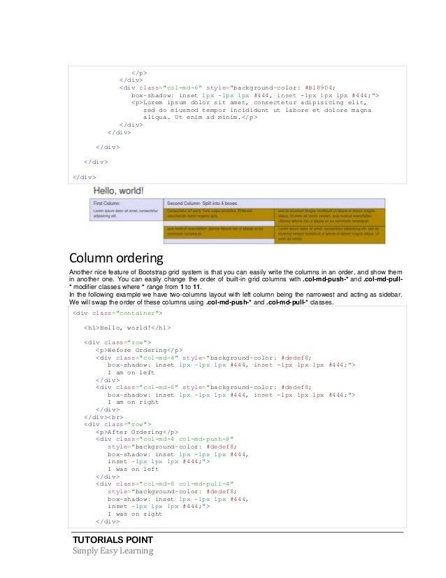 Bootstrap tutorial - Bootstrap slider div ...