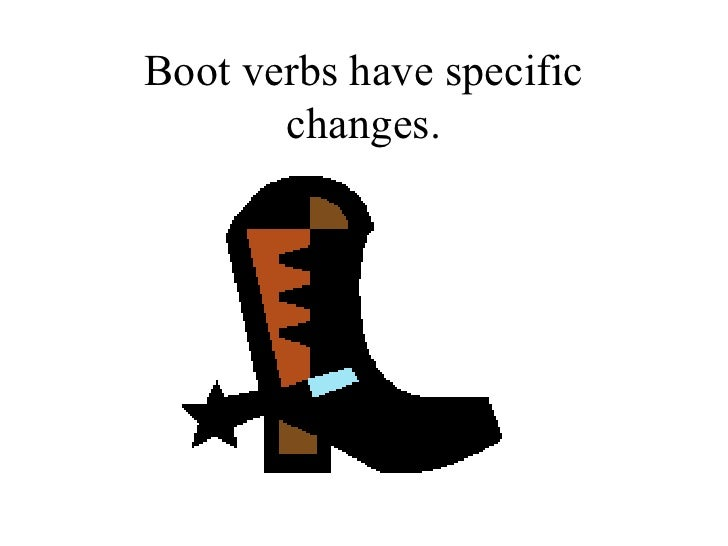 Boot verbs Slide 2