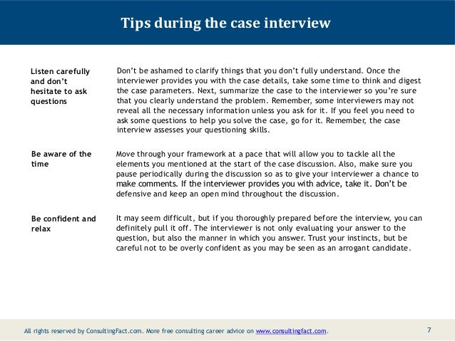 case study questions asked in interviews