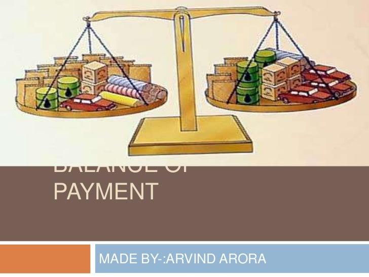 BALANCE OFPAYMENT   MADE BY-:ARVIND ARORA