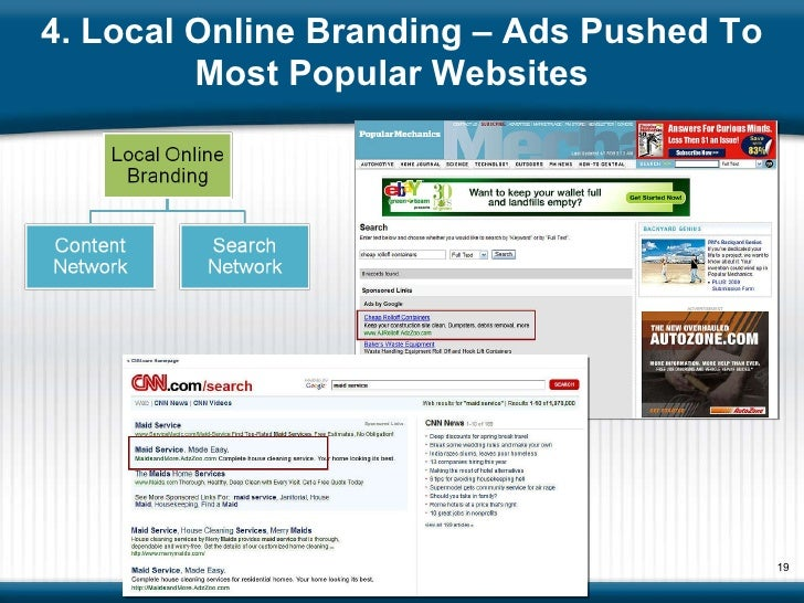 4. Local Online Branding – Ads Pushed To Most Popular Websites