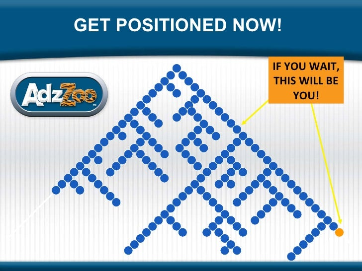 GET POSITIONED NOW! IF YOU WAIT, THIS WILL BE YOU!