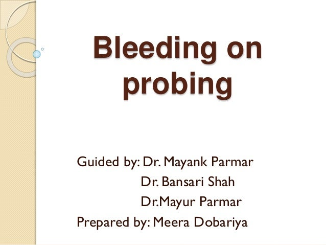 bleeding on probing slideshare