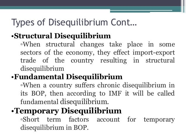 disequilibrium in bop Balance of payment disequilibrium anupama k lecturer in particular, a country's own balance of payments is important to investors, multinational.