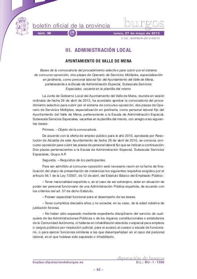 boletín oficial de la provincia– 62 –C.V.E.: BOPBUR-2013-04073núm. 98 lunes, 27 de mayo de 2013ediputación de burgosbopbur...