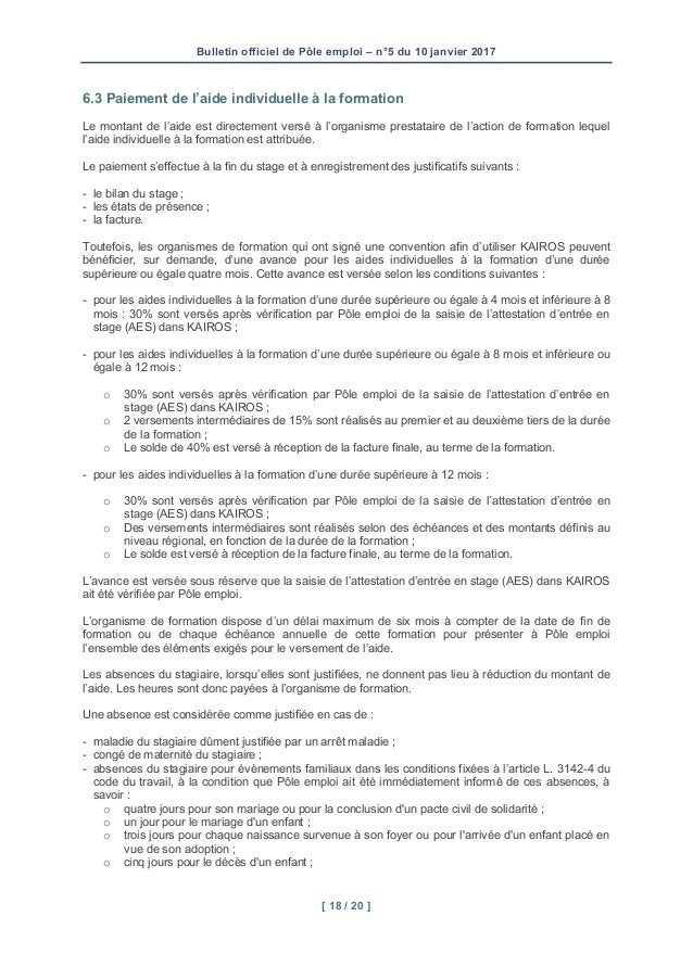 formation pole emploi 43