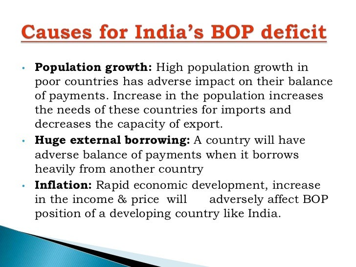 bop position and impact on It also presents the international investment position a country's balance of payments records all economic transactions between the residents of the country and.