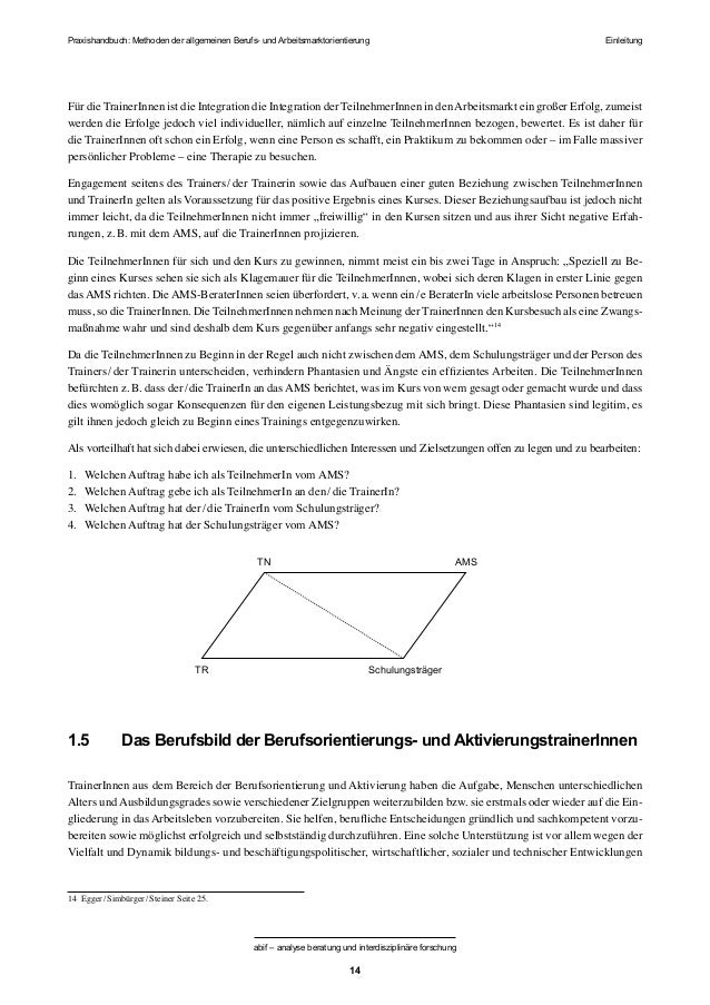 Berufsorientierung Methodenhandbuch