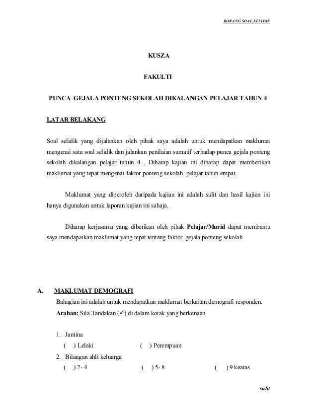 Borang Soal Selidik 2