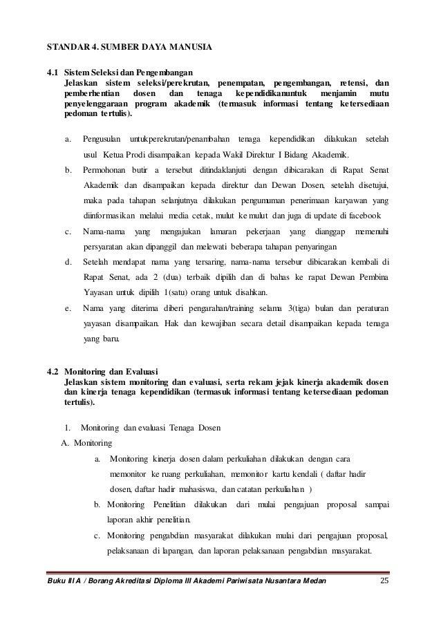 Borang 3 A Akademi Pariwitasa Nusantara Medan 26092013