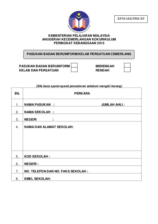 Contoh Borang Br1m Yang Telah Diisi Cbr1m