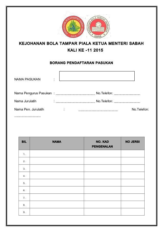 Borang Dan Syarat Pertandingan Piala Ketua Menteri 2015 1