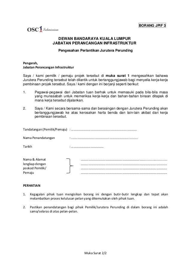 Surat Permohonan Kerja Jurutera Gapura J