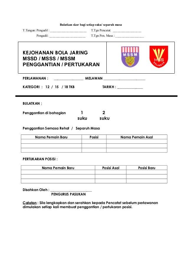 Borang Pencatat