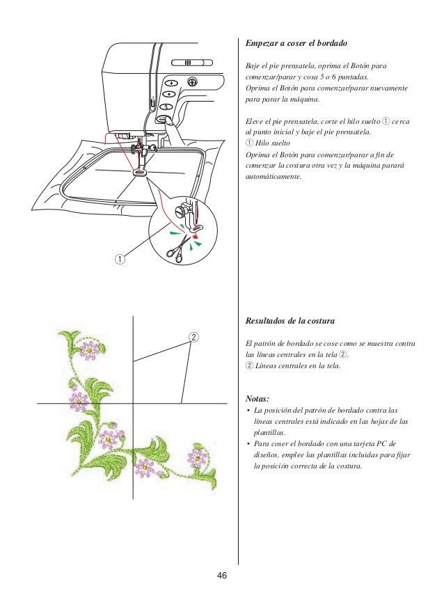 Bordado estilo profesional manual de instrucciones mc 10000 -