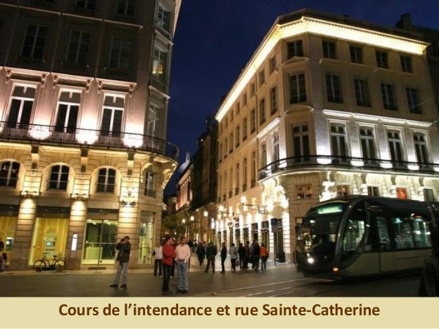 Cours de l'intendance et rue Sainte-Catherine