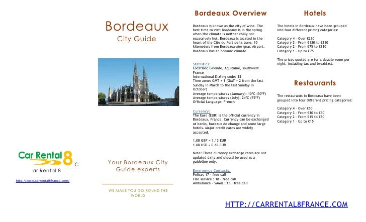 <p><strong>Slide 1: </strong>                                                                   Bordeaux Overview         ...
