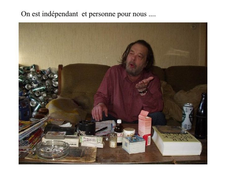 On est indépendant  et personne pour nous ....