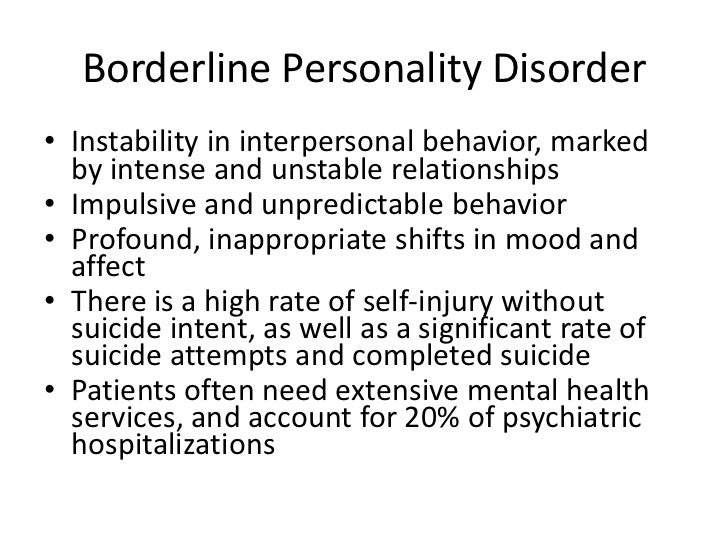 therapeutic relationship with borderline personality disorder