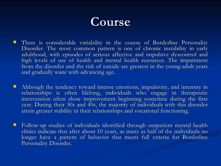 Borderline Personality Disorder Amazing Borderline Personality Relationship Pattern