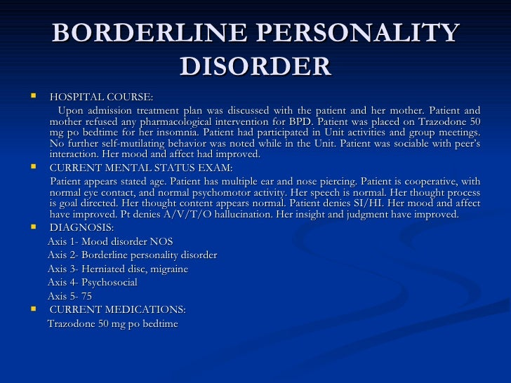 Borderline Personality Disorder Essays (Examples)