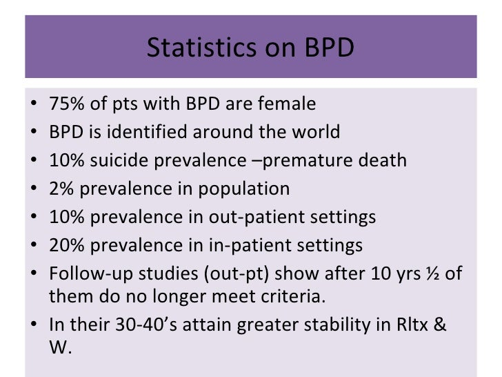 What Is Borderline Personality Disorder >> Borderline Personality Disorder Presentation