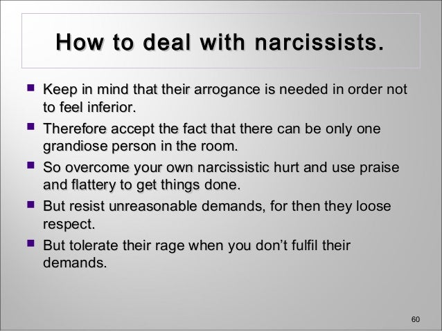 Howto Deal With Narcissistic People